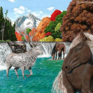 PAISAJE_caballos_y_ciervo_422912.jpg