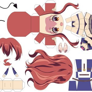FanArt - PaperCraft - Shamiko (Machikado Mazoku)