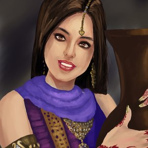 Hindi girl practicing in Krita