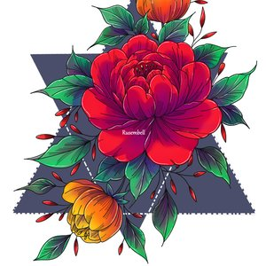 Diseño Para camisa floral