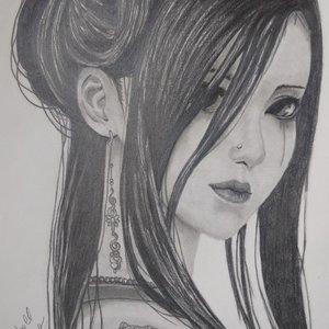 Geisha a lapiz