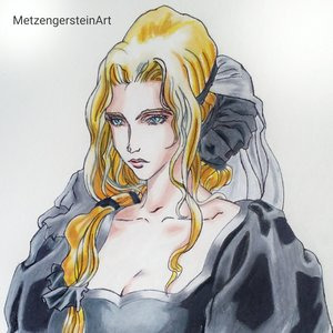 Lisa (madre de Allucard, Castlevania, Fan Art)