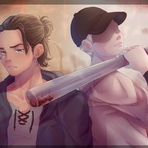 Shingeki_no_Kyojin_x_OFF_Eren_and_The_Batter_by_Farde_462619.png