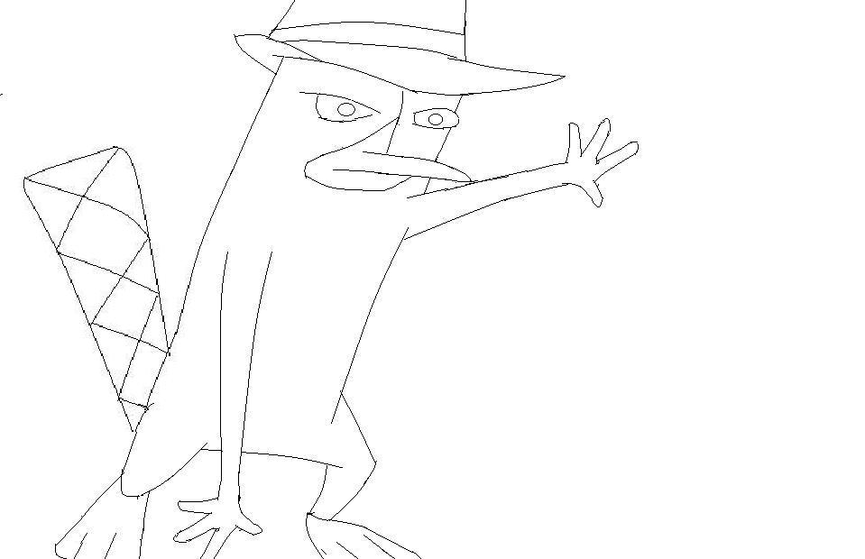 perry el ornitorrinco por leonardo12   Dibujando