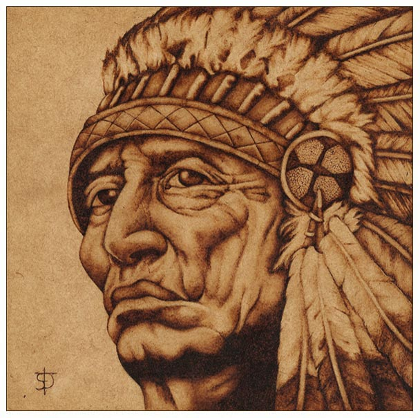 american native pirograbado por felixdasilva dibujando On dibujos para pirograbado