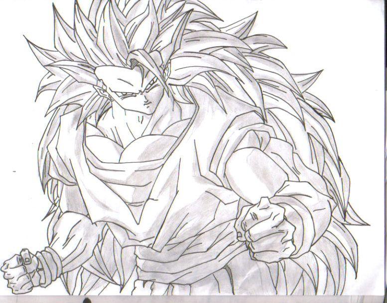 Dibujos De Goku Fase 5 Para Colorear: Goku F3() Por WolfMan