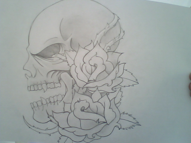 calavera tattoo por luigyeS  Dibujando