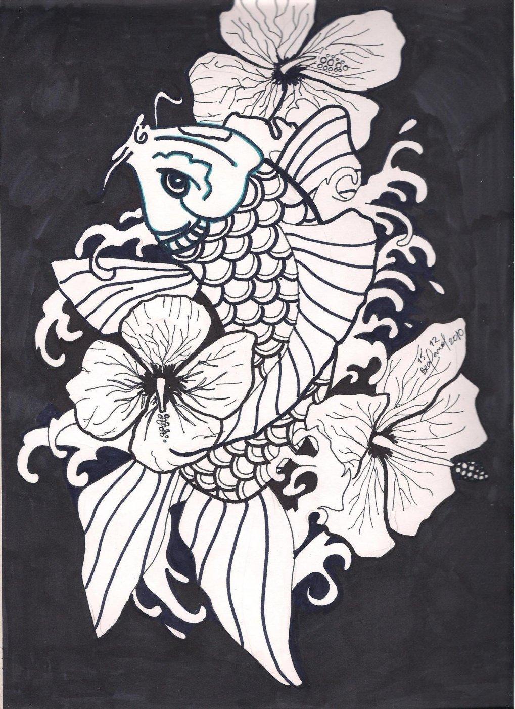 Pez Koi Japones Dibujo