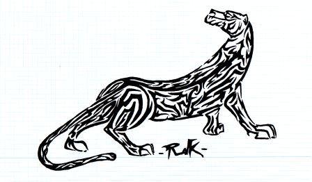 El Tigre De Rayas Tribales Por Rdk Dibujando