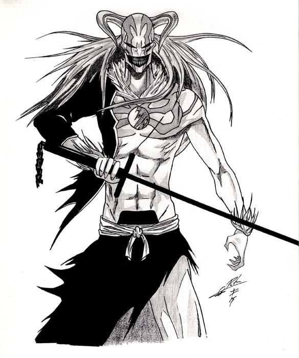 Ichigo Hollow por Quike86 | Dibujando