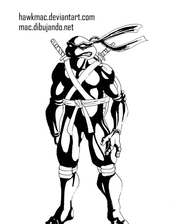 Tortuga ninja Tintas por Mac | Dibujando