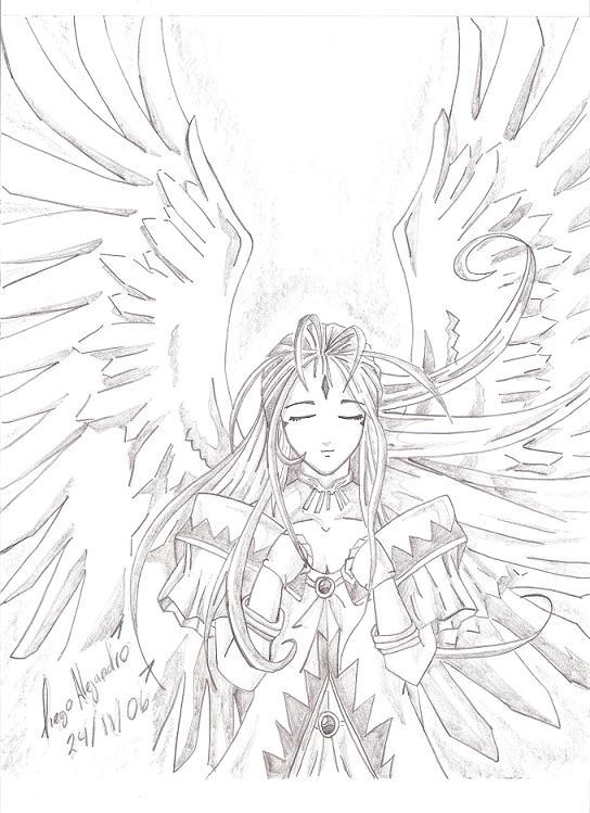 Animes con alas para dibujar - Imagui