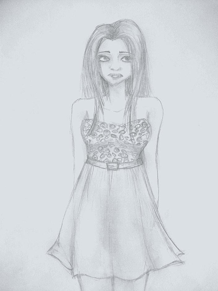 Dibujo a lpiz hecho en clase  por vickytoria  Dibujando