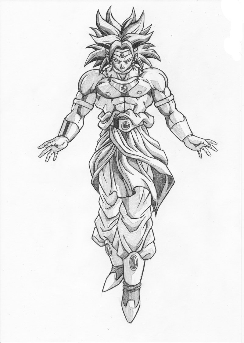 Normal broly coloring pages coloring pages for Dragon ball z broly coloring pages