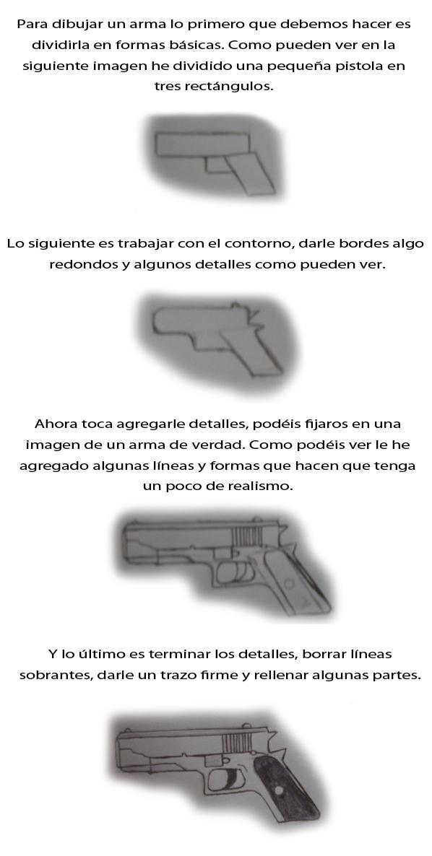 aprendiendo a dibujar armas por rubenaguilar dibujando