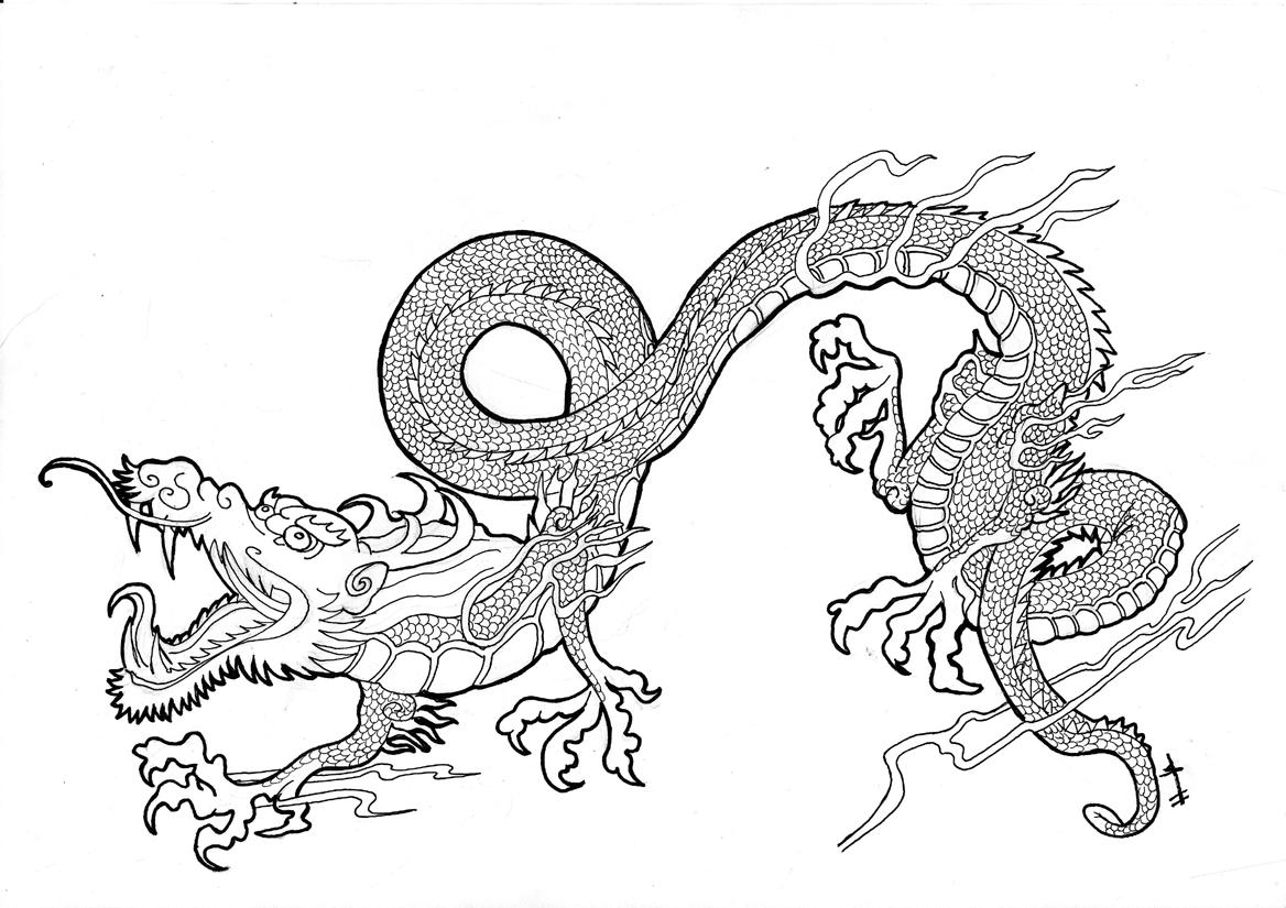 Vistoso Dragón Japonés Para Colorear Imágenes - Dibujos Para ...