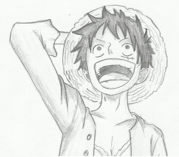 Luffy por fformiga7 dibujando for One piece dibujos