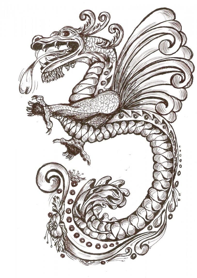 Elegante Imagenes De Dragon Chino Para Colorear