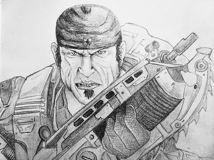 Marcus Fenix Por Eusebioni Dibujando