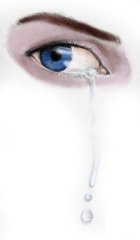 Ojo Azul Llorando Por Zahira Dibujando