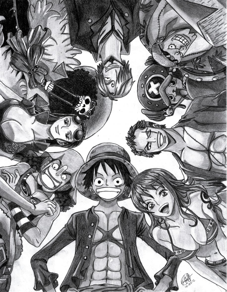 One piece new word por david 178 dibujando for One piece dibujos