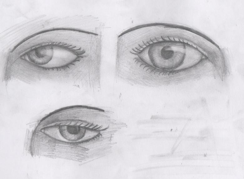 ojos a lapiz por Zahira   Dibujando
