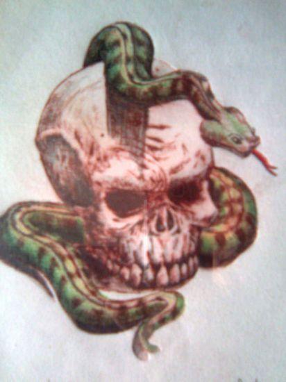 Imagenes de calaveras con serpientes para dibujar - Imagui