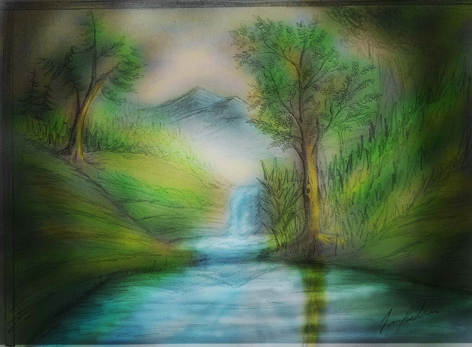 Paisajes Para Dibujar A Color Faciles imagendepaisaje