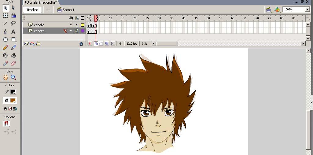 Movimiendo de cabello en personaje de anime con Flash por mubonnet ...