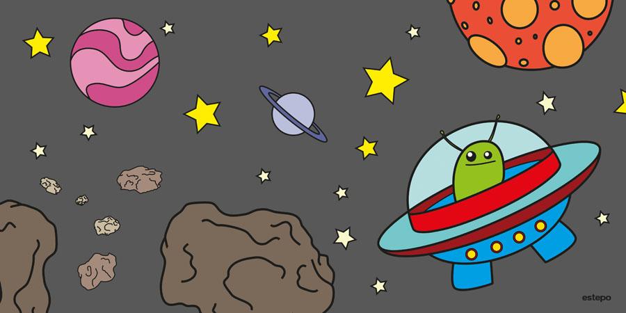 Imagenes de nave espacial caricatura imagui - Dibujos infantiles del espacio ...