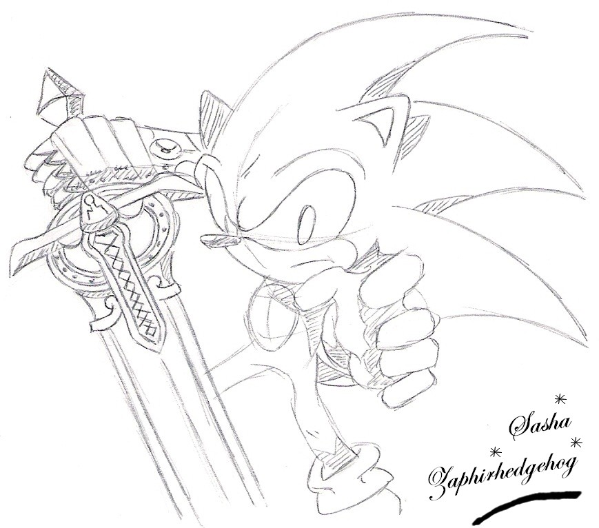 sonic and the black knight coloring pages - sonic and the black knight por sashazaphirhedgehog dibujando