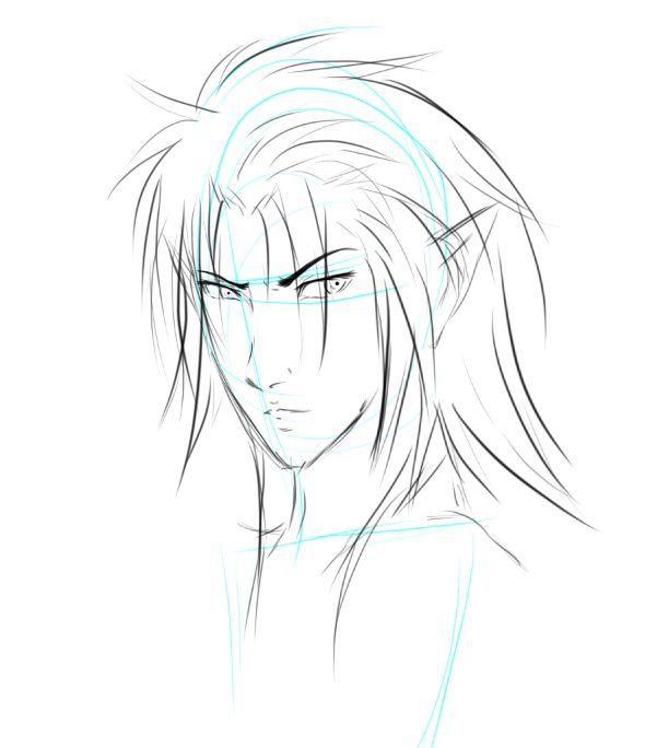 Sketch Elfo Por Leonwriter Dibujando