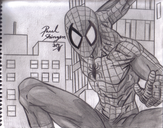 Dibujo Spiderman De Comics Hecho Por Paul Shinzen Por Shinzen