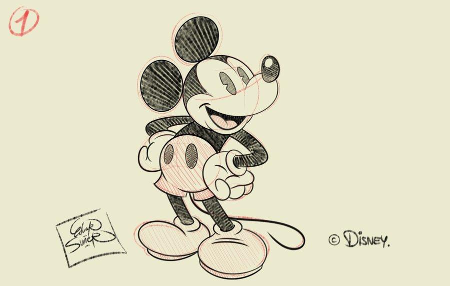 Mickey Mouse Sketch 1 Por Eduardsq Dibujando