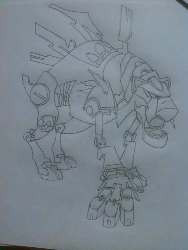 tigre robot por desi  Dibujando