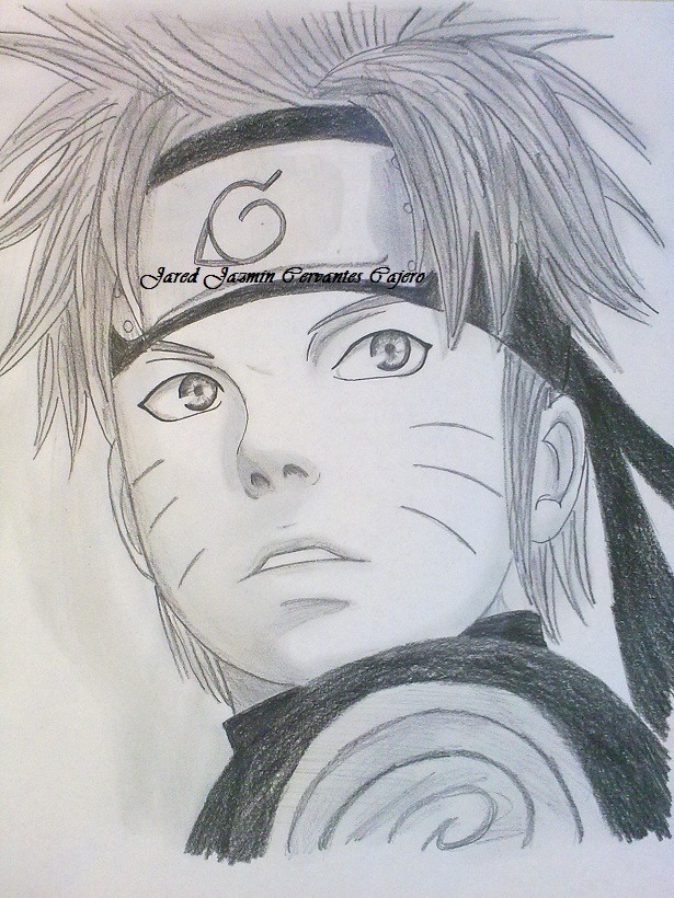 Mi dibujo de Uzumaki Naruto Shippuden | Dibujando