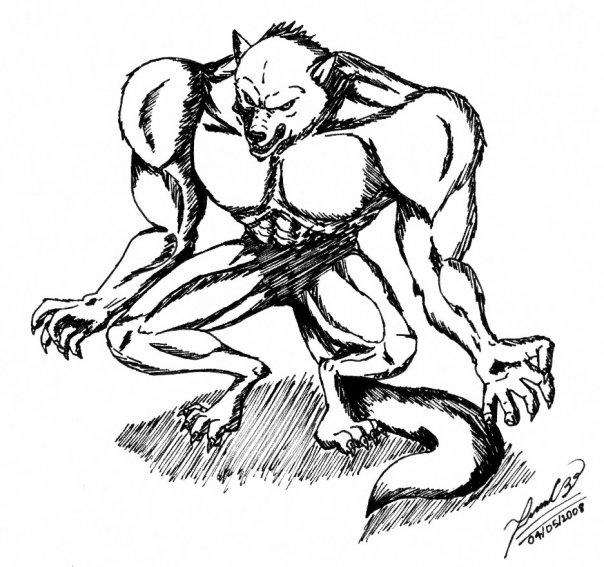 Hombre lobo por Juan544 | Dibujando