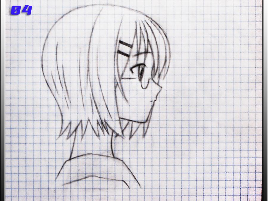 Como dibujar chica anime en perfil por angelus Dibujando