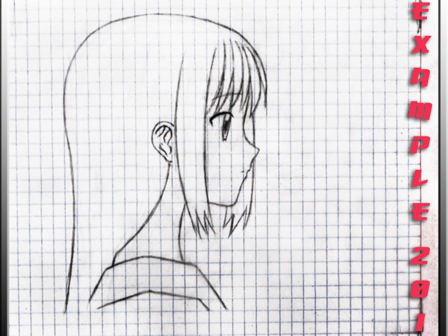 Como Dibujar Chica Anime En Perfil Por Angelus