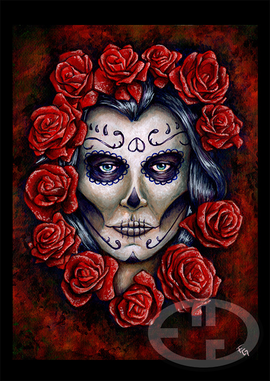 Calaveras Y Rosas Tattoo Pictures