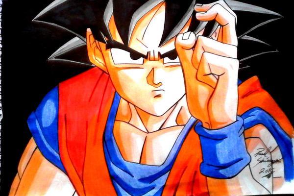 Goku De Dragon Ball Super A Color Por Shinzen Dibujando