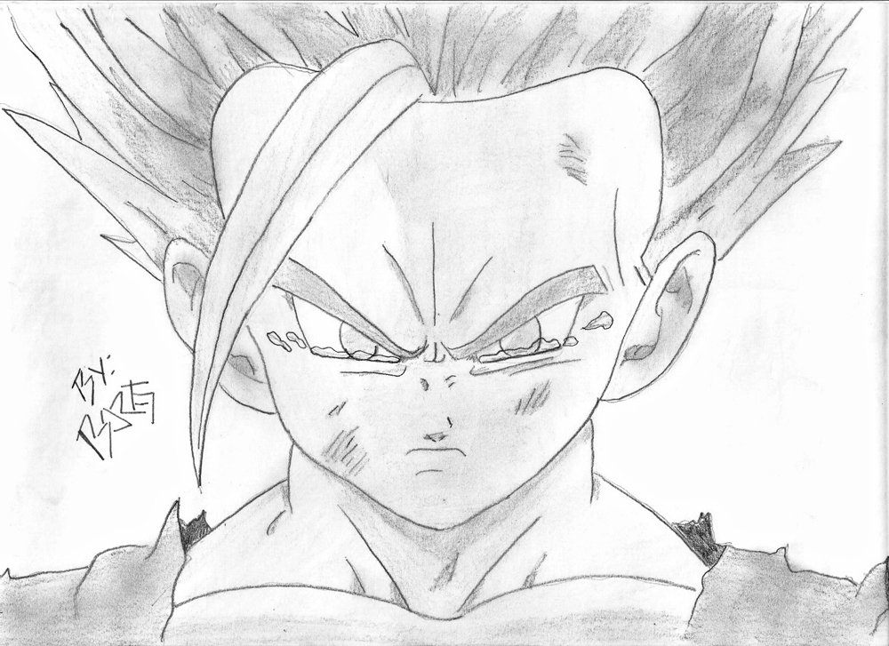 Dibujos Para Colorear De Dragon Ball Z Gohan Ssj2 Ideas: GOHAN SSJ 2 Por Sayajin