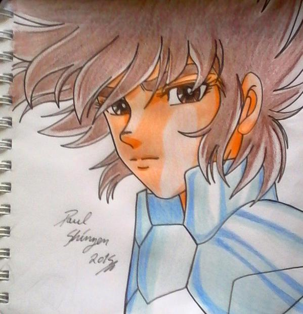 Otro Dibujo A Color Fan Art De Anime Saint Seiya Por Shinzen Dibujando
