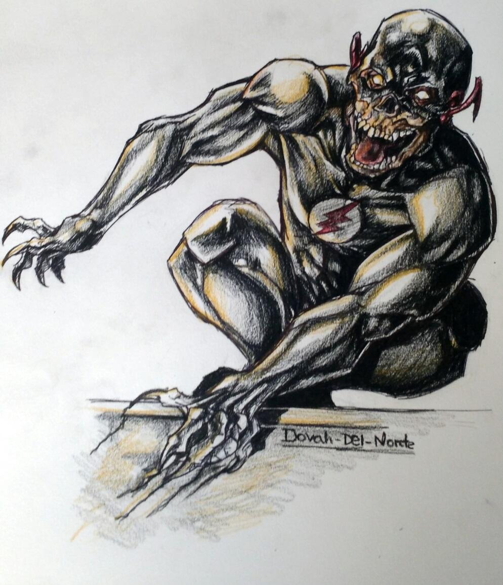 Dibujo Rápido De Black Flash Por Dovah Del Norteart Dibujando