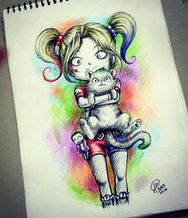 Harley quinn chibi por juan k dibujando for Imagenes harley quinn