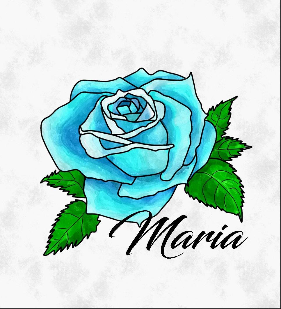 Rosas azules por Maria26 | Dibujando