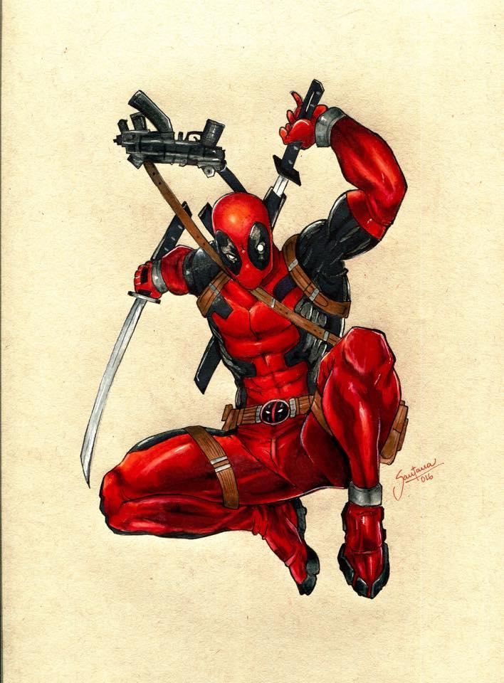 Imagenes Para Colorear De Deadpool Como Dibujar A