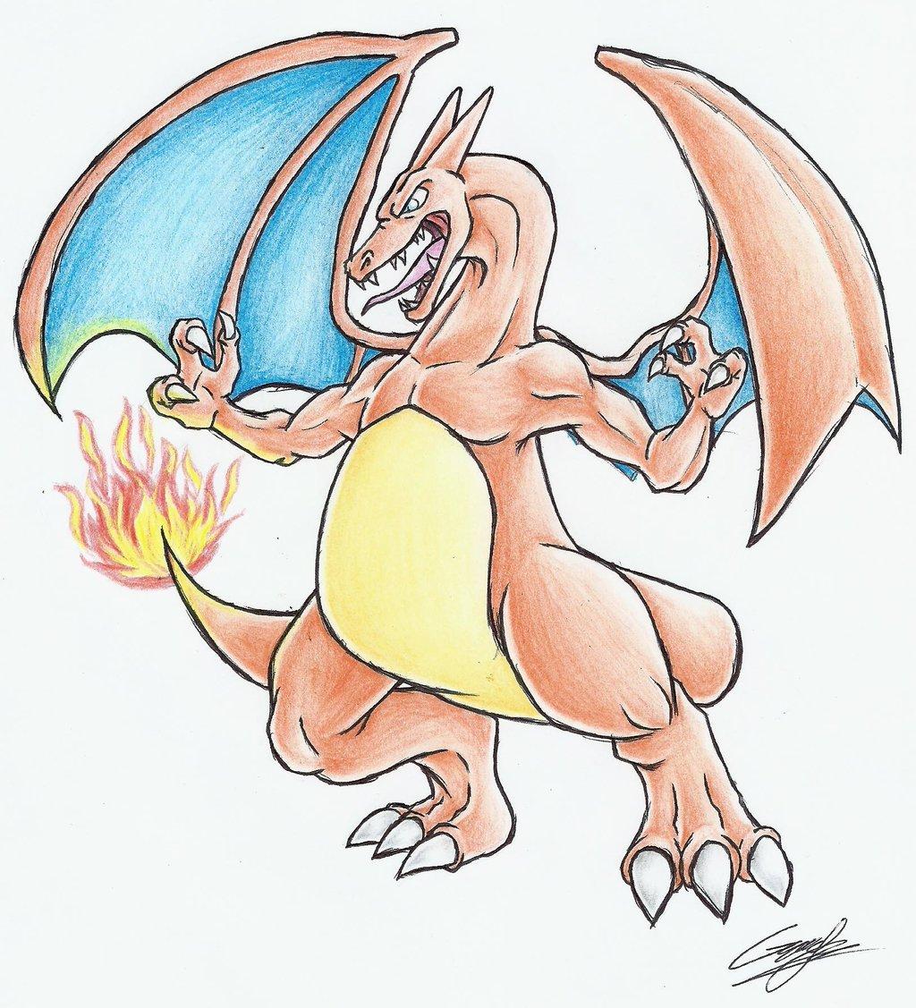 Charizard (coloreado) por GraceQuinzel | Dibujando