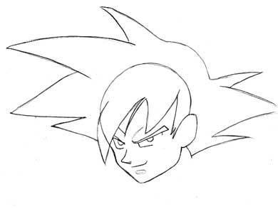 Goku de Dragon Ball  Dibujando